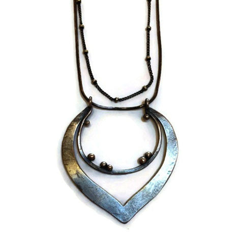 Julia Britell Jewelry - Double Hoop Pendant