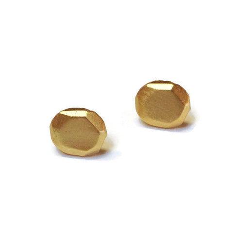 Julia Britell Jewelry - Gold Nugget Post Earrings