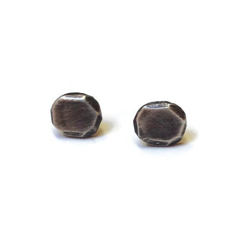Julia Britell Jewelry - Oxidized Silver Nugget Post Earrings