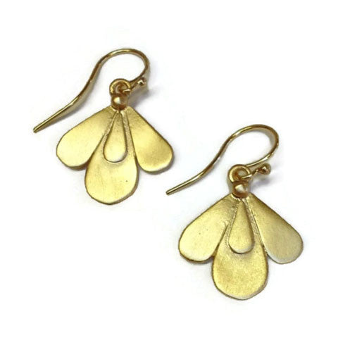 Julia Britell Jewelry - Small Petals Earring in Gold