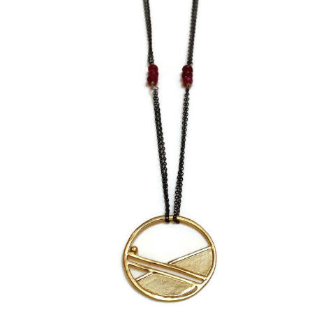 Julia Britell Jewelry - Golden Geometric Pendant