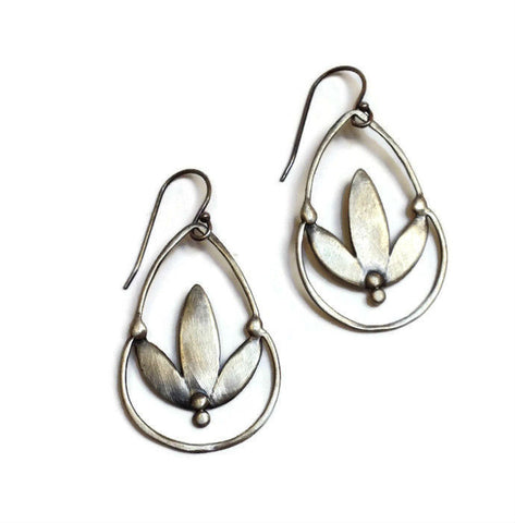 Julia Britell Jewelry - Lotus Drop Earrings