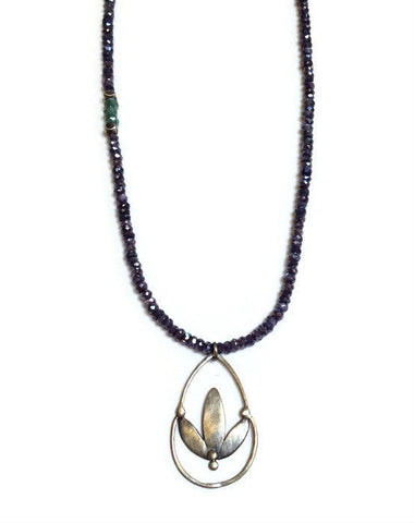Julia Britell Jewelry - Lotus Drop Necklace