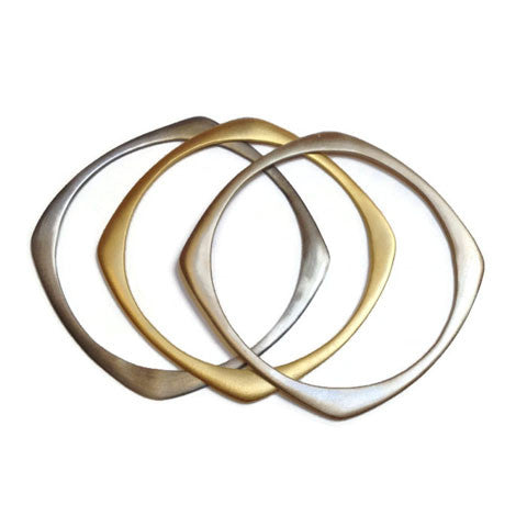 Julia Britell Jewelry - Square Bangle Trio