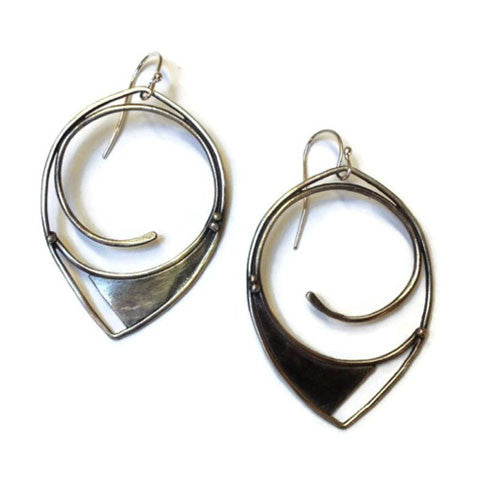 Julia Britell Jewelry - Swirl Hoop Earrings
