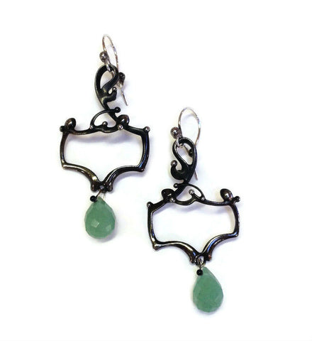 Katia Olivova Jewelry - Aventurine Earrings