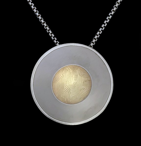 Kenneth Pillsworth Jewelry - Strata Pendant in Brass