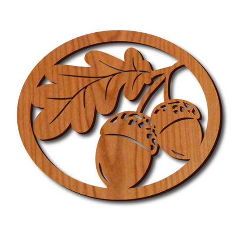 Lightwave Laser - Oak Leaf Oval Trivet