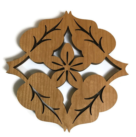 Lightwave Laser - 4 Leaf Flower Trivet