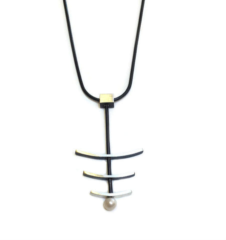 Mar Jewelry - Triple Bar Pendant