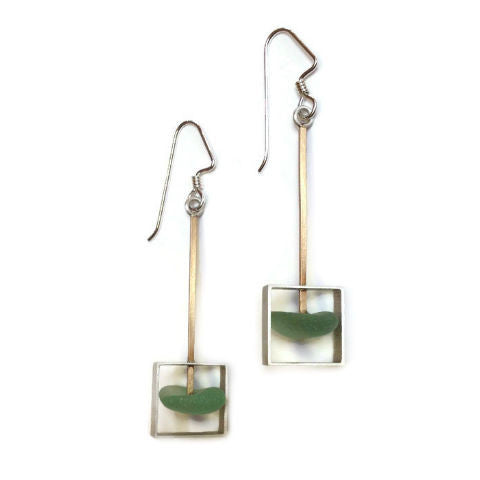 Mar Jewelry - Sea Glass Square Earrings