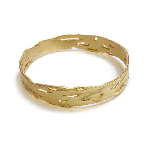 Silver Seasons - Michael Michaud - Birch Bark Bangle in Gold