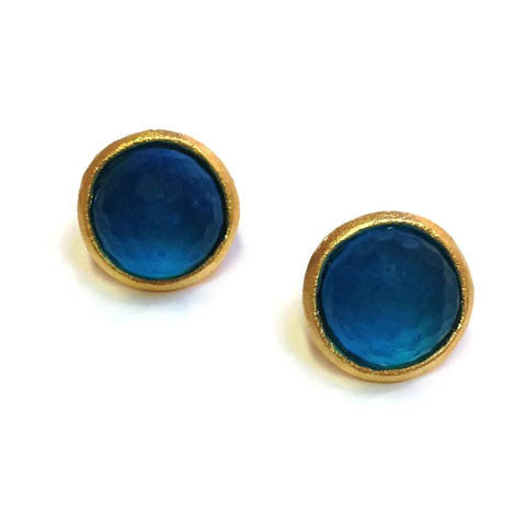 Michael Vincent Michaud Jewelry - Faceted Round Post Earrings