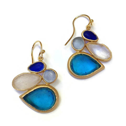 Michael Vincent Michaud Jewelry - Cluster Tear Drop Earrings