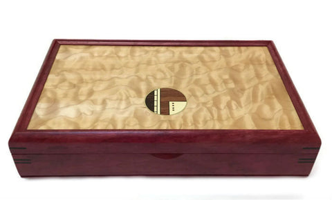 Mikutowski Woodworking - Purple Heart and Quilted Maple Valet Box