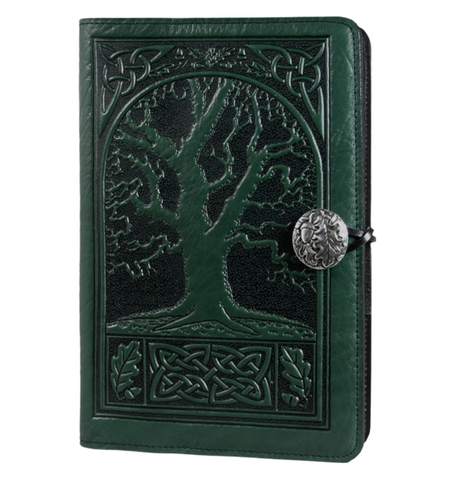 Oberon Design - Celtic Oak Small Refillable Leather Journal