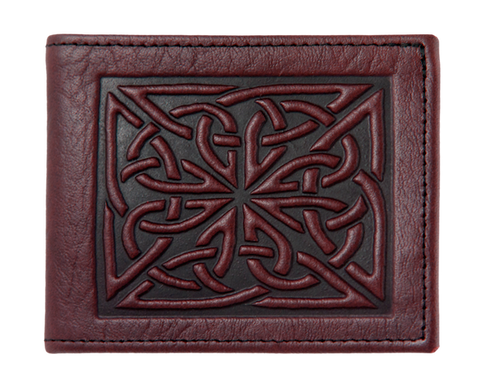 Oberon Design - Celtic Weave Leather Wallet
