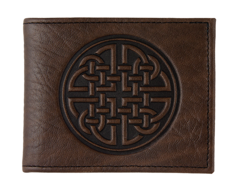 Oberon Design - Celtic Circle Leather Wallet