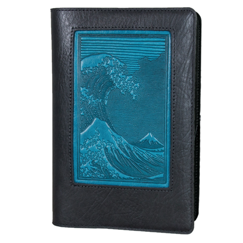 Oberon Design - Hokusai Wave Icon Refillable Leather Journal