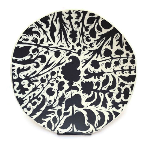 Oxide Pottery - Light Botanical Platter