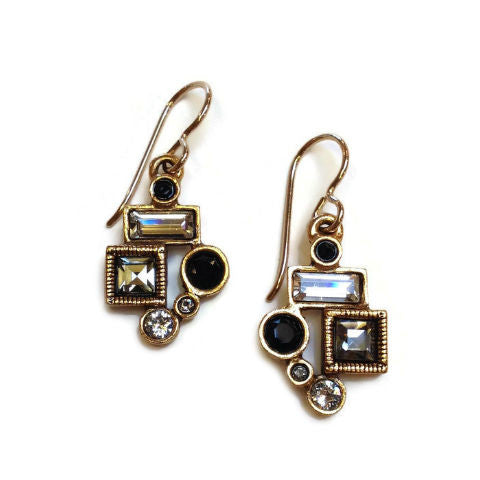 Patricia Locke Jewelry - Park Avenue Earrings in Black and White