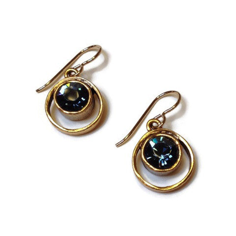 Patricia Locke Jewelry - Skeeball Earrings Denim