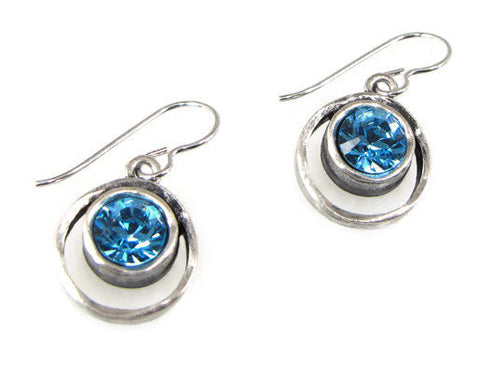 Patricia Locke Jewelry - Skeeball Earrings in Aquamarine