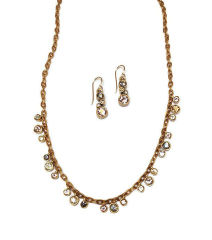 Patricia Locke Jewelry - Sparkles Necklace in Champagne