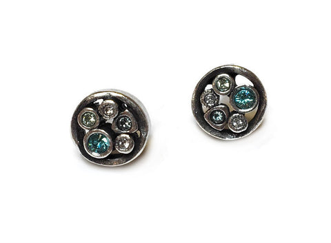 Patricia Locke Jewelry - Tiny Bubbles Post Earrings in Zephyr