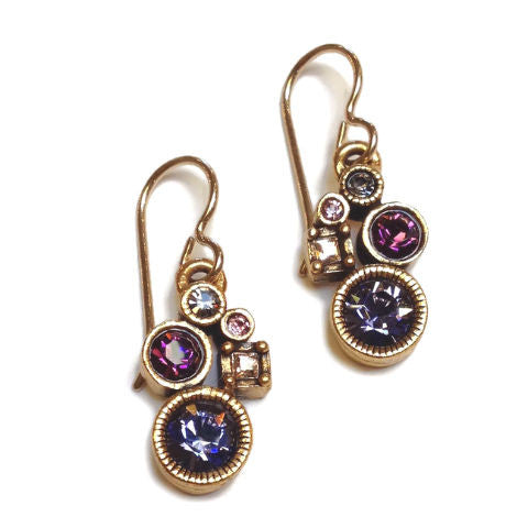 Patricia Locke Jewelry - Nicolette Earrings in Purple Rain