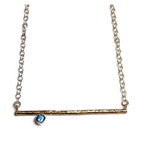 Peter James  - Stick Pendant with Blue Topaz