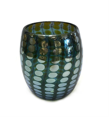 Philabaum Glass - Mirrored Nutty Bowl in Emerald