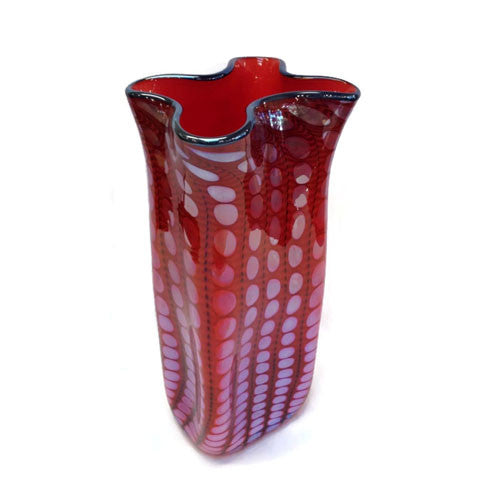 Philabaum Glass - Red Bag Vase