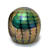 Philabaum Glass - Faceted Reptilian Paperweight in Teal