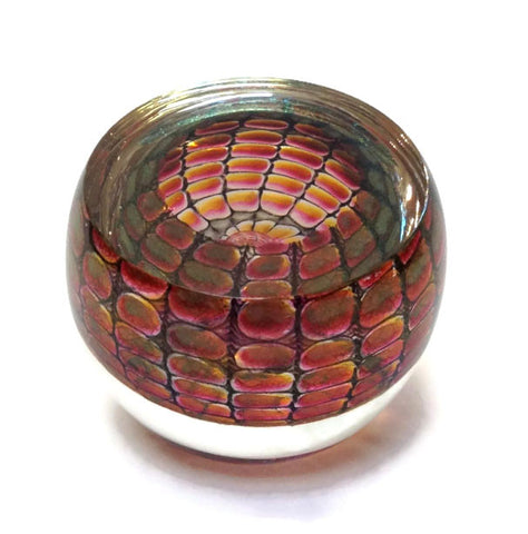 Philabaum Glass - Geode Paperweight in Ruby