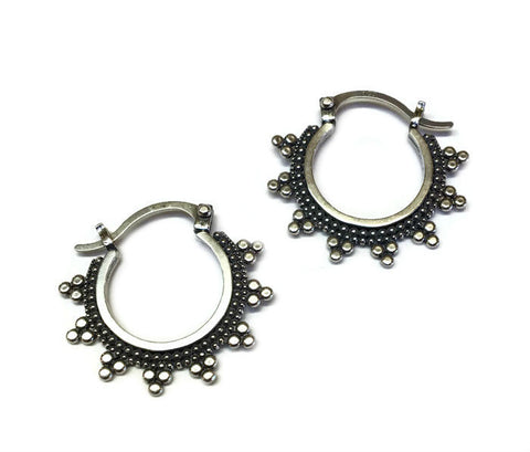 Sasha Bell Jewelry - Small Tribal Hoop Earrings