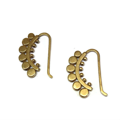 Sasha Bell Jewelry - Small Sunflower Hook Earrings in Gold