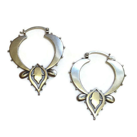 Sasha Bell Jewelry - Large Lotus Hoop Earrings
