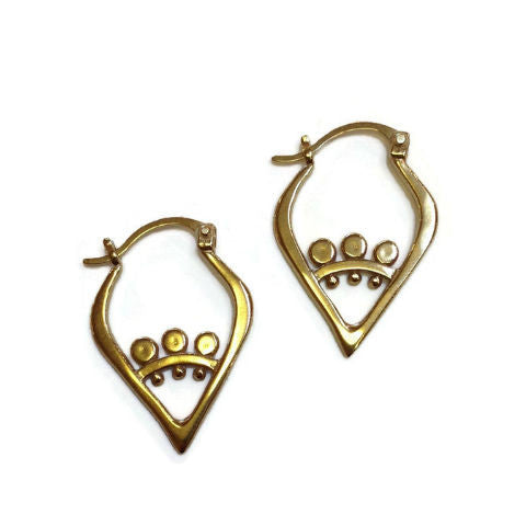 Sasha Bell Jewelry - Sunflower Slice Earrings in Gold