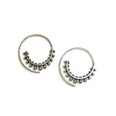Sasha Bell Jewelry - Ultra Spiral Hoop Earrings