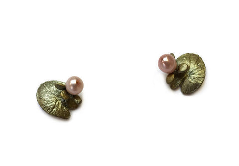 Silver Seasons by Michael Michaud - Water Lily Post Earrings