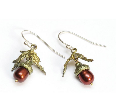 Silver Seasons by Michael Michaud - Acorn Earrings