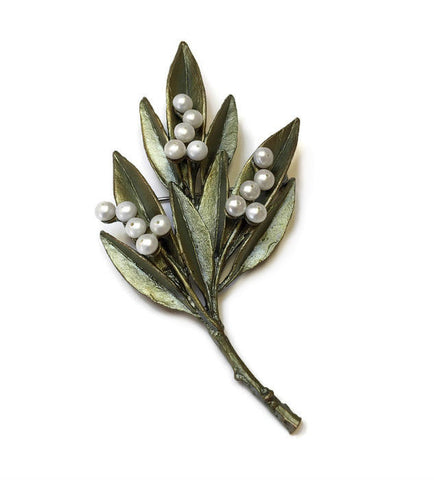 Silver Seasons by Michael Michaud - Ash Leaf Pin