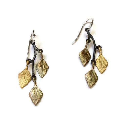 Silver Seasons by Michael Michaud - Autumn Birch Earrings