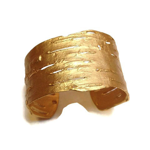 Silver Seasons - Michael Michaud - Birch Bark Cuff in Gold