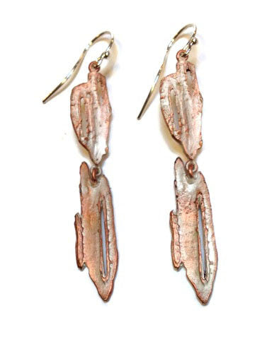 Silver Seasons - Michael Michaud - Birch Bark Earrings