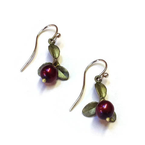 Silver Seasons - Michael Michaud - Cranberry Wire Drop Earrings