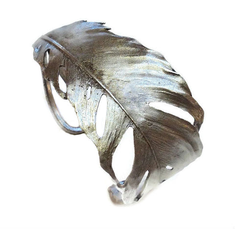Silver Seasons - Michael Michaud - Feather Cuff Bracelet in Silver