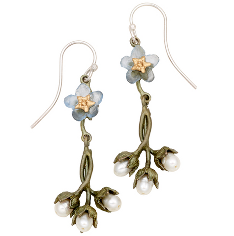 Silver Seasons by Michael Michaud - Forget Me Not Earrings