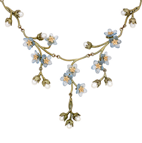 Silver Seasons by Michael Michaud - Forget Me Not Necklace